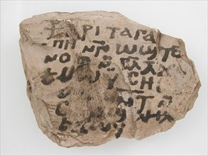 Ostrakon with a Letter, Coptic, 580-640.