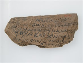 Ostrakon with a Letter from Kame to Aaron, Coptic, 600.