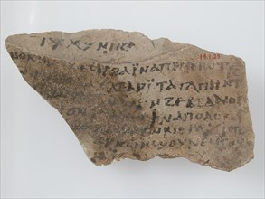 Ostrakon with a Letter from Enoch to His Parents, Coptic, 600.