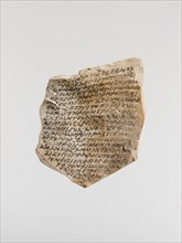 Ostrakon with an Epistle of Severos, Bishop of Antioch, Coptic, after 508-640.
