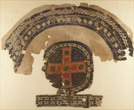 Fragment with an Arch and a Gemmed Cross, Byzantine, 5th-6th century.