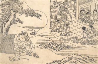 Parody of the Tale of Young Man Lu: A Fisherman Dreaming, ca. 1700.