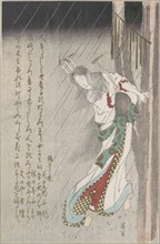 Woman in the Rain at Midnight Driving a Nail into a Tree to Invoke Evil on Her Unfaithful Lover, 19th century.