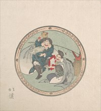 Ebisu and Daikoku; Two of the Seven Gods of Good Fortune, 19th century.