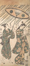The Actors Nakamura Tomijiro in the Role of Ono no Komachi and Sanogawa Ichimatsu in the Role of Her Servant, ca. 1756.