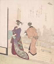 Scene on the Veranda of a Teahouse, 18th-19th century.