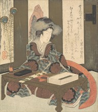 A Lady About to Write a Poem, ca. 1820.