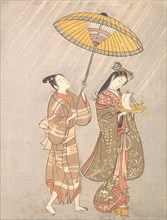Komachi Praying for Rain, ca. 1765.