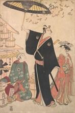 """Ichikawa Yaozo III in the Role of Sukeroku from the Play """"Yukari no Edo-sakura"""", also known as """"Sukeroku"""", 1784."""