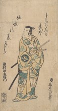The Actor Ichimura Uzaemon VIII as a Samurai in Green and Yellow Robes, ca. 1742.
