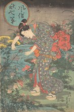 Fashionable Seven Autumn Plants (Fuzoku aki nanakusa), first half of the 19th century.