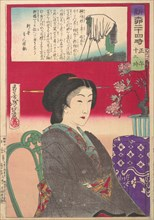Twenty-Four Hours at Shinbashi/Yanagibashi: 12 Noon. (Shinyanagi nijuyo-ji, gozen juni-ji), 1880.
