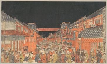 Sakaicho Fukiyacho Kaomise Yoshibai no Zu, ca. 1780.