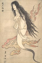 "Onoe Matsusuke as the Ghost of the Murdered Wife Oiwa, in ""A Tale of Horror from the Yotsuya Station on the Tokaido Road"", 1812."