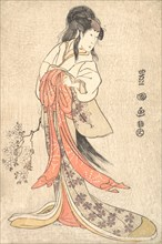 Kabuki Actor Segawa Kikunojo III in a Mad Female Role, 1798 (Kansei 9).