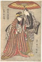 Kabuki Actors: Bando Mitsugoro and Iwai Hanshiro, ca. 1800.