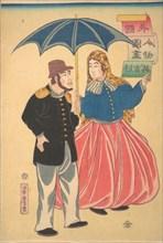 English Couple (Igirisujin), 12th month, 1860.