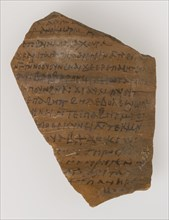 Ostrakon from Maria and Susanna Jointly to Panachora, Coptic, probably early 7th century. At Epiphanius a large number of ostraca were discovered in the monastery. Some reveal that, even at the southe...