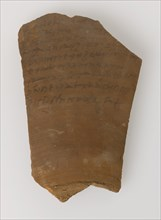 Ostrakon with a Letter from Gennadius to Peter, Coptic, 580-640.