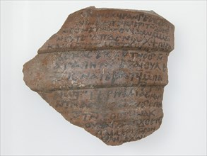 Ostrakon with a Letter from Frange to Enoch, Coptic, 600.