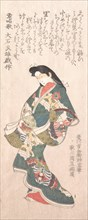 Spring Rain Collection (Harusame shu), vol. 1: Genroku-style Courtesan, probably 1810s.