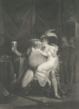 Doll Tearsheet, Falstaff, Henry and Poins (Shakespeare, King Henry IV, Part 2, Act 2, Scene 4), first published 1795; reissued 1852.