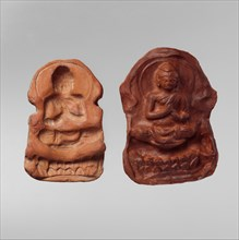 Mold and Impression for a Seated Buddha, 5th-7th century.