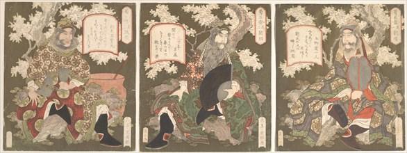 The Three Heroes of Shoku (Shu): Emperor Ryubi (Liu Fei) and His Friends Kwan-u (Kwan Yu) and Chohi (Chang Fei), first half of the 19th century.