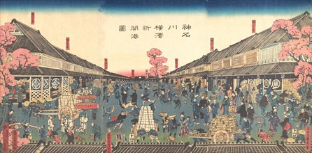 ?The Newly Opened Port of Yokohama in Kanagawa Prefecture? , 2nd month, 1860.