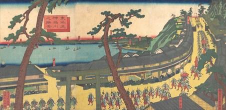 View of Kanagawa on the Tokaido Road (Tokaido kanagawa no shokei), ca. 1862-63.