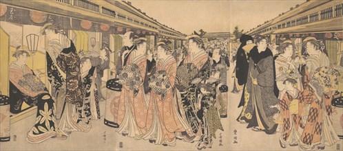 Courtesans Promenading on the Nakanocho in Yoshiwara, ca. 1795.