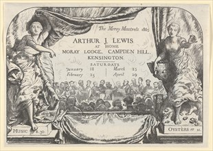 The Moray Minstrels (Invitation card of Arthur James Lewis), 1865.