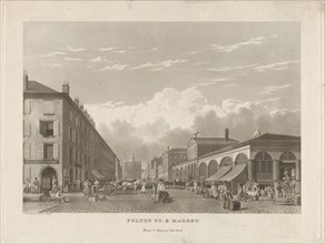Fulton Street and Market, New York, 1834.
