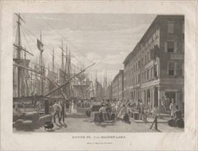 South St. from Maiden Lane, 1834.