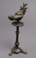 Standing Lamp with a Cross on a Pricket Stand, Byzantine, 4th-5th century.