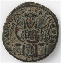 Coin of Basil I, Byzantine, 9th century (867 or 868).