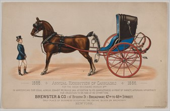 Brewster & Co. Annual Exhibition of Carriages, 1886.