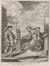 Plate 6: Ferdinand receiving the keys to the city of Ghent; from Guillielmus Becanus's 'Serenissimi Principis Ferdinandi, Hispaniarum Infantis...', 1636.