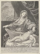 The Virgin holding a cloth above the sleeping infant Christ, after Reni, 1700-1800.