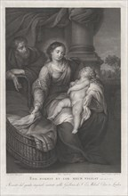 The Holy Family, with the Christ child asleep in the Virgin's lap, ca. 1778-86.