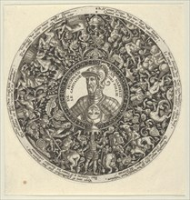Portrait of the Duke of Alva, from a Series of Tazza Designs, ca. 1588.