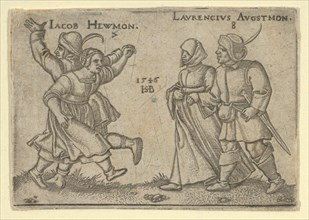 Copy of July and August, from The Peasants' Feast or the Twelve Months, after 1547. [Iacob Hewmon 7 / Laurencius Augustmon 8].