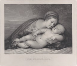 The Madonna embracing the sleeping Christ child, 1797.