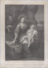 The Holy Family, with the Christ child asleep in the Virgin's lap, 1786.