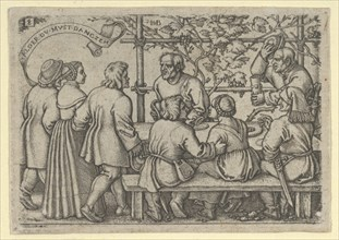 Peasants' Feast, from The Peasants' Feast or the Twelve Months, 1546-47. [Alder Du Must Danczen].