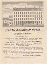 North American Hotel, New York, April 1832.