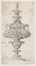 Covered Goblet With Owl,.n.d.