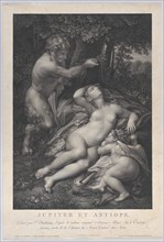 A satyr discovering the sleeping Venus, with Cupid lying at her side, 1801.