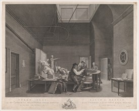 The Drawing Academy at the Felix Meritis Society in Amsterdam, ca. 1800.