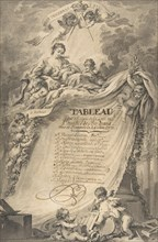 Diploma for the Freemasons of Bordeaux, after François Boucher, 1766.